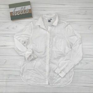 Classic White Button Up Shirt